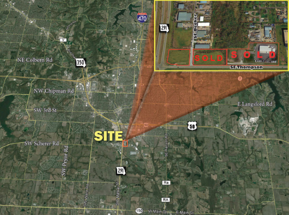 NEC 291 Hwy & SE Thompson Drive Lee's Summit Missouri 64082, ,Land,Sale,Thompson,1012